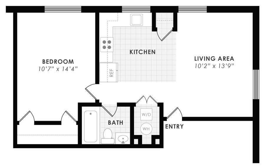 Gail Court Apartments 1 Bedroom/1 Bath Apartment B
