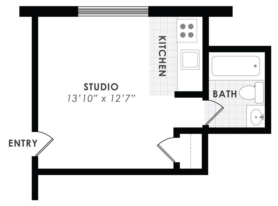 Gail Court Apartments Studio/1 Bath Apartment C