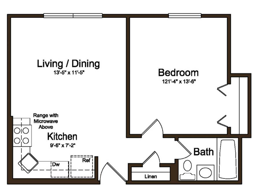 Coventry Apartments 1 Bedroom Jr.