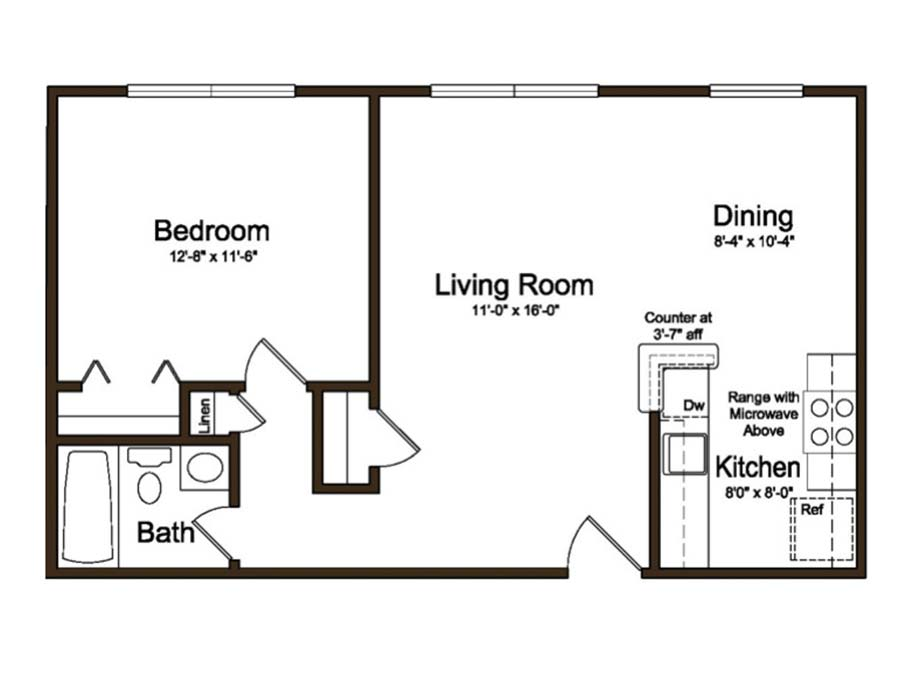 Coventry Apartments 1 Bedroom