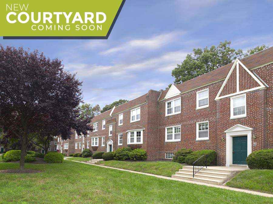 Canterbury Apartments Exterior - new courtyard coming soon
