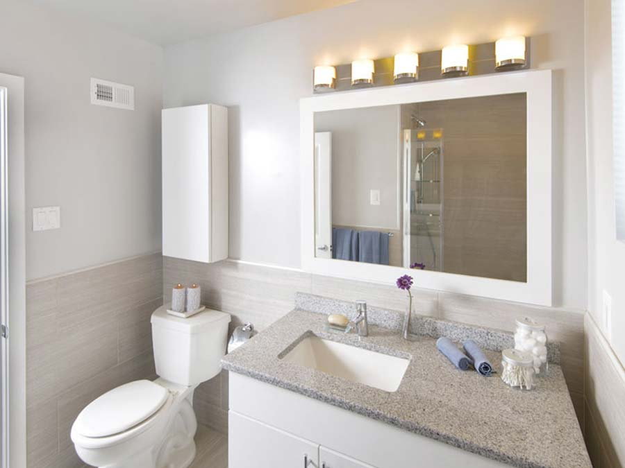 Mt Airy Philadelphia apartments at Chestnut Terrace bathroom with large vanity and lots of space