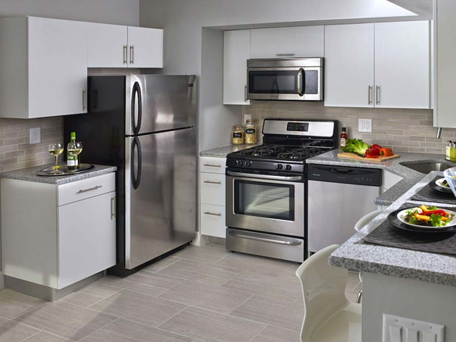 bright spacious kitchen with cabinet space at Chestnut Terrace apartments in Mt Airy Philadelphia