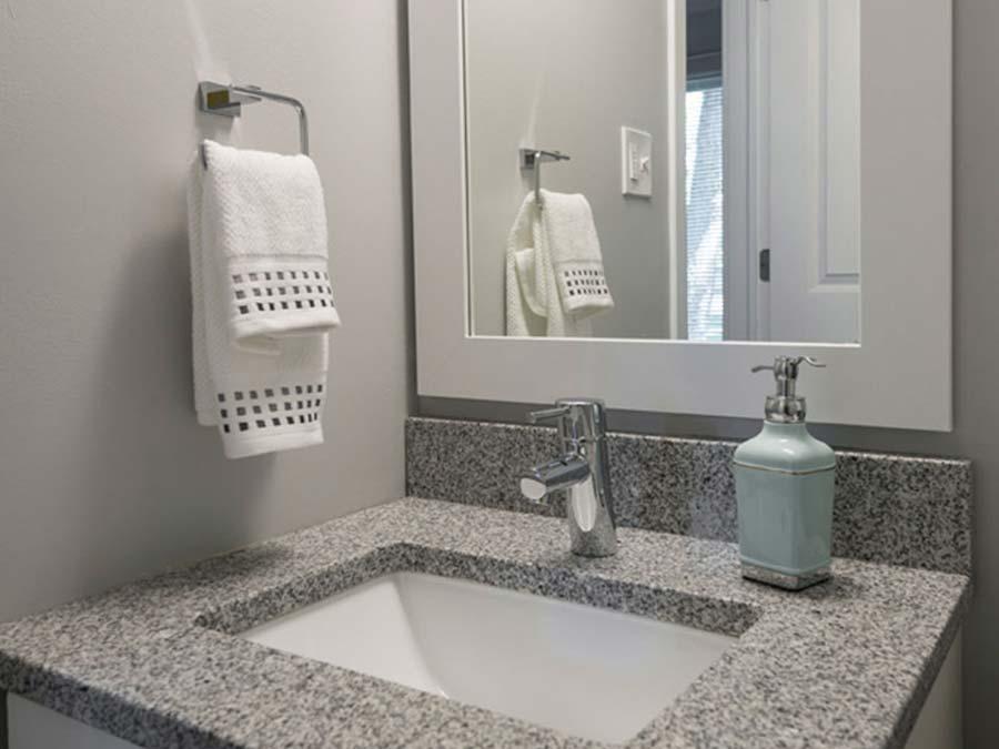 kitchen sink in bathroom of Newark DE apartments