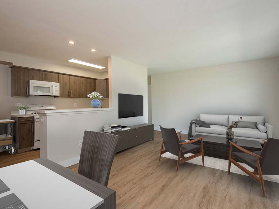 Newark DE apartment with large living room