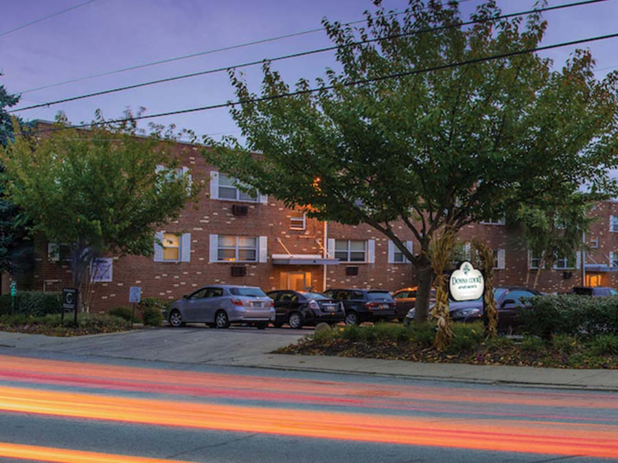 street view of the Donna Court apartment building in Roxborough Manayunk