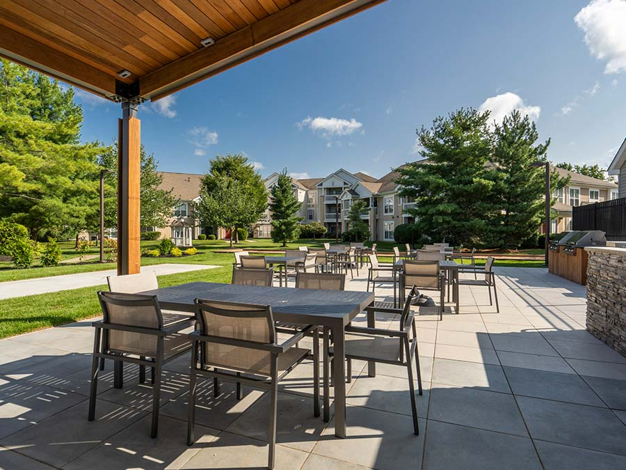 barbecue and picnic area with comfortable sitting area at Edge of Yardley