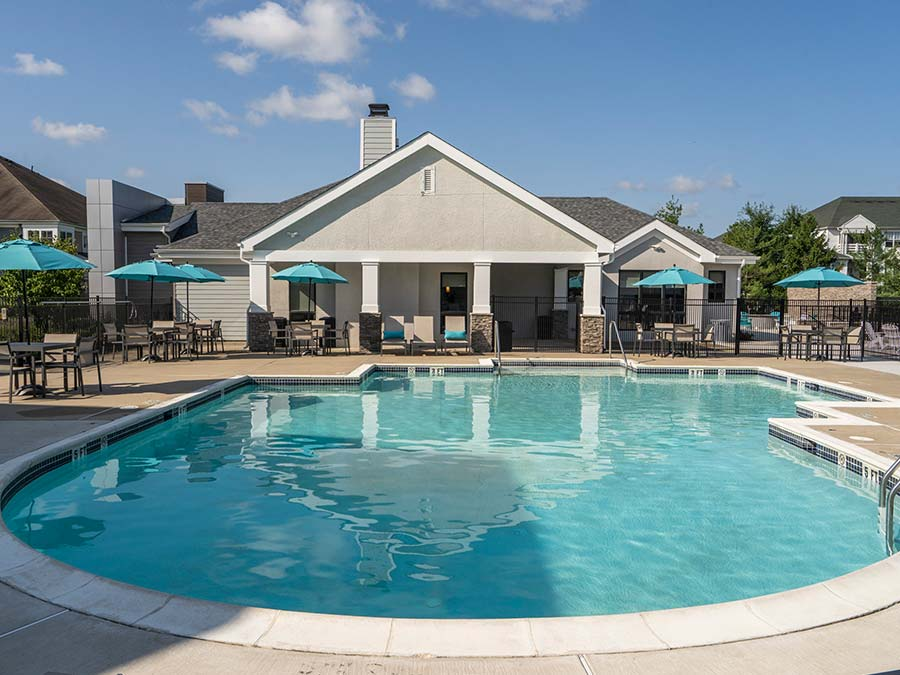 large swimming pool and clubhouse for Edge of Yardley residents in Yardley PA