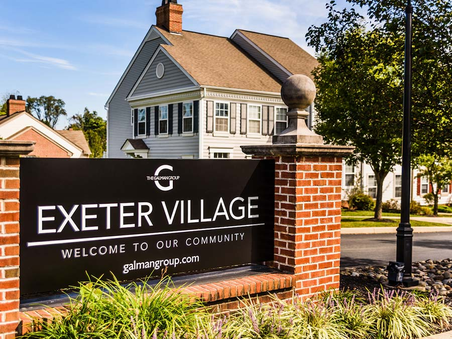 exterior sign of Exeter Village in Reading PA
