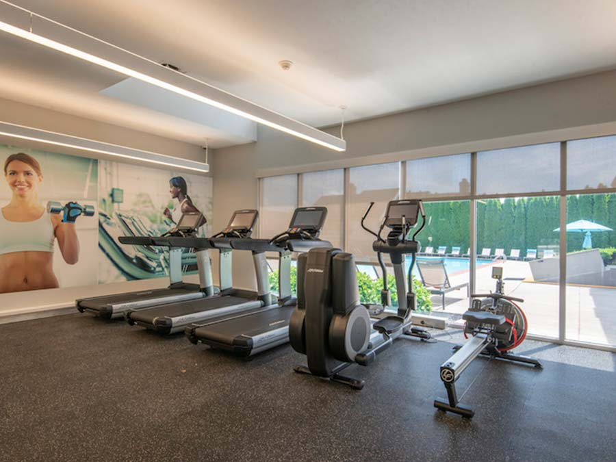 cardio equipment in the fitness center at Reading PA apartments