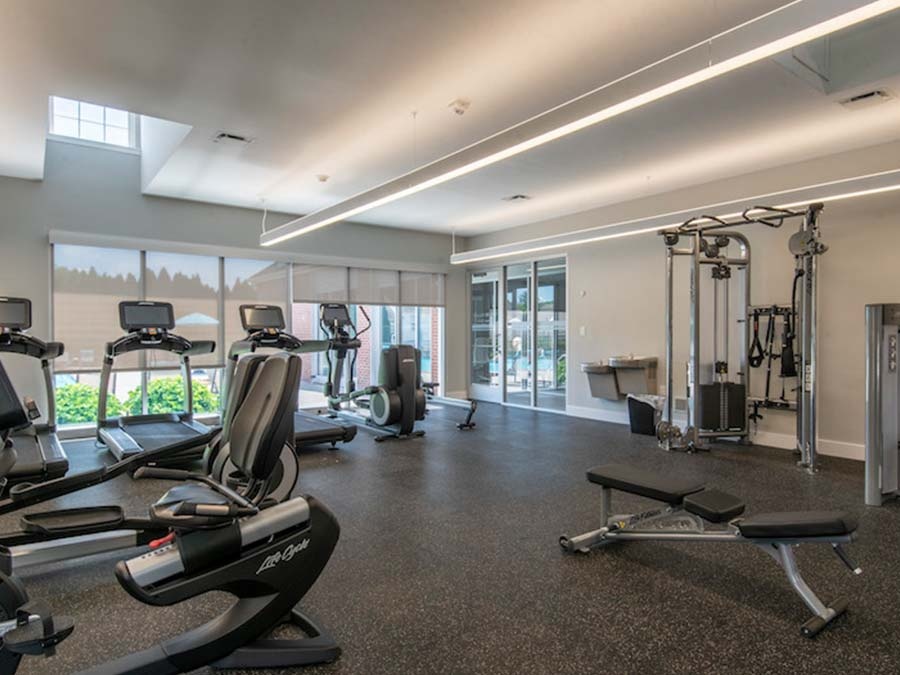 Reading PA apartments for rent featuring a large fitness center