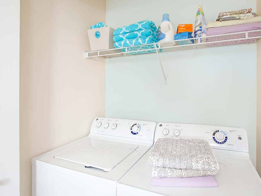 apartment featuring in-unit washer and dryer