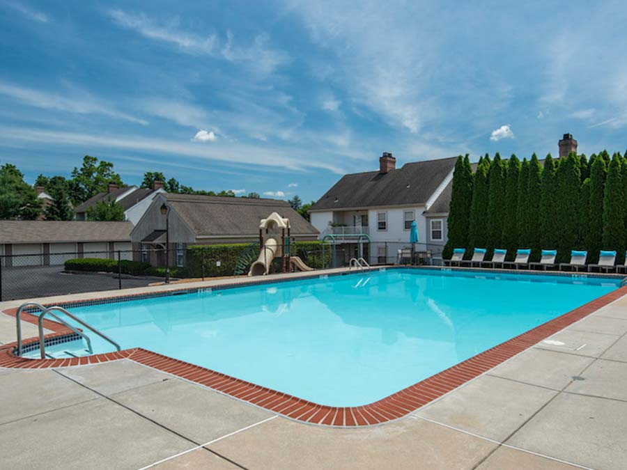 Reading PA apartments for rent feature a large swimming pool