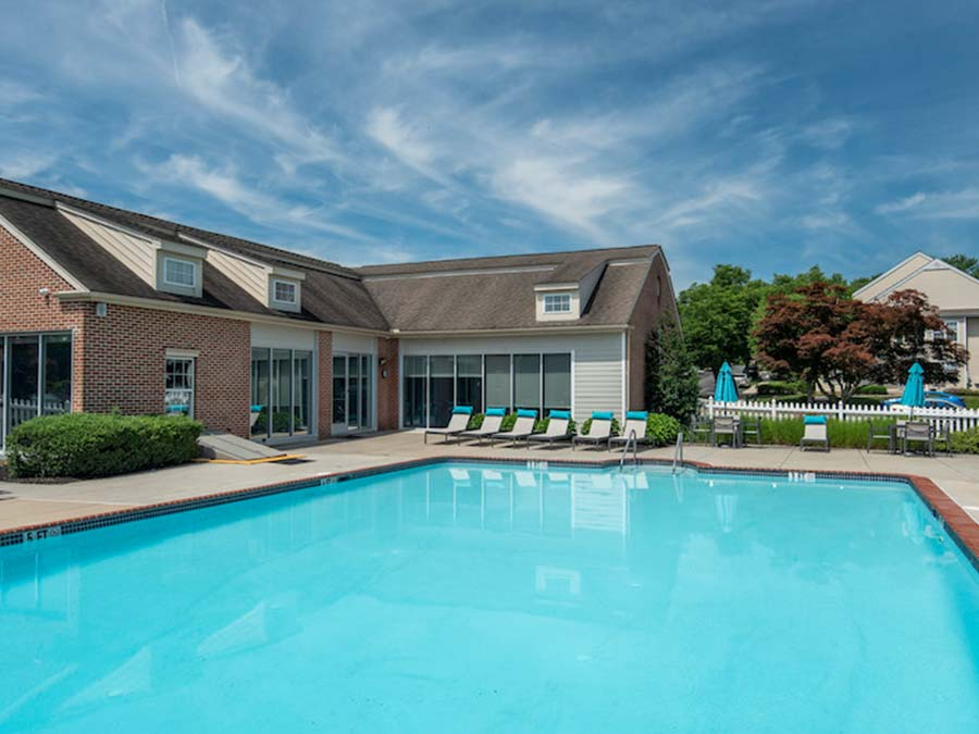 recreational amenities include a large swimming pool at apartments for rent in Reading PA