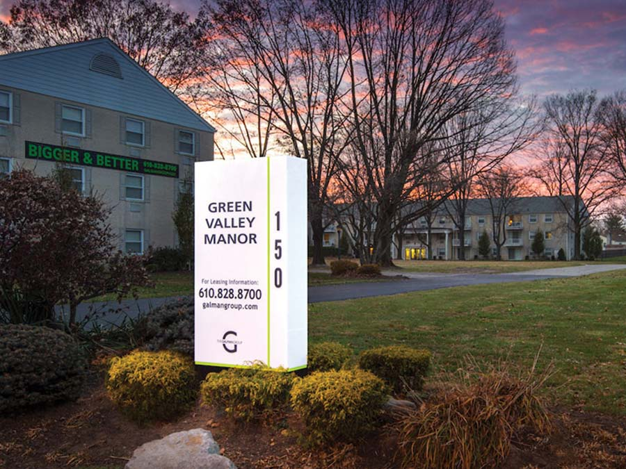 Green Valley Manor exterior sign