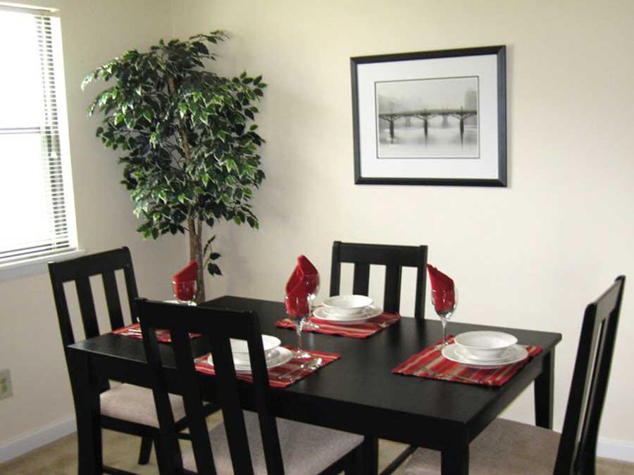 Hillside Apartments dining room