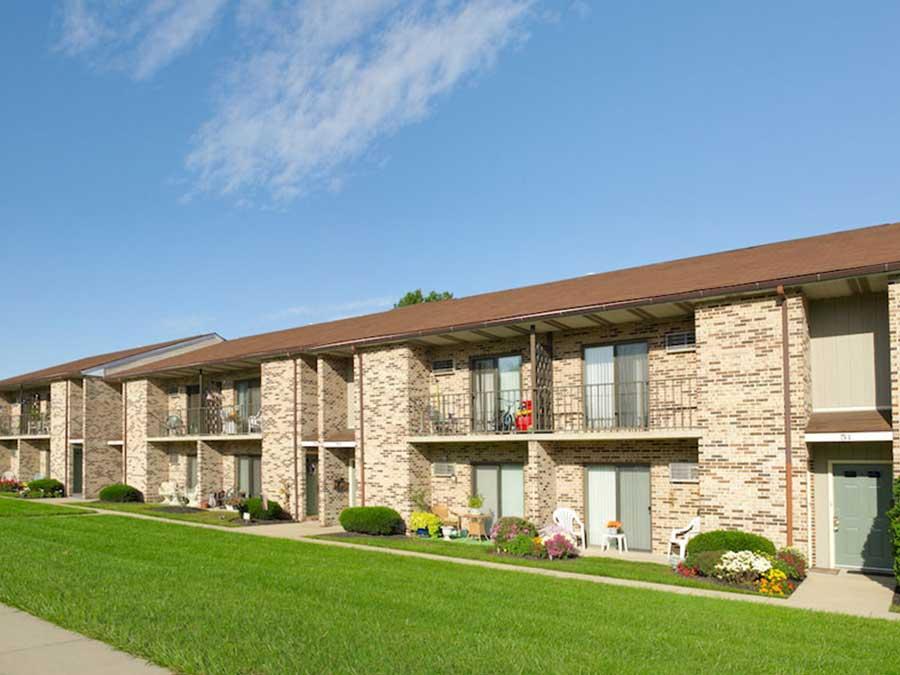 Hillside Apartments exterior buildings