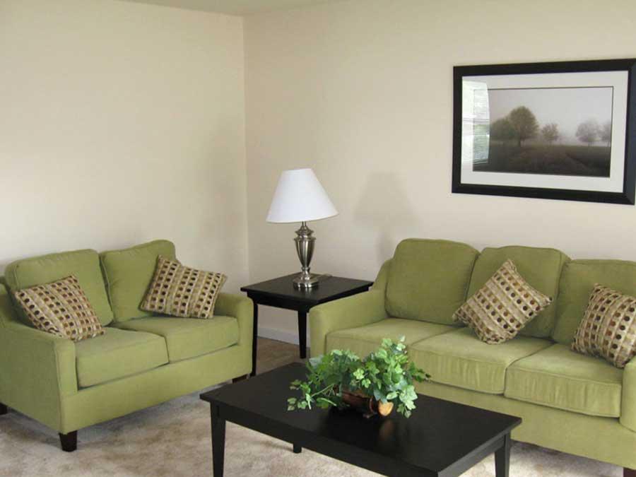 Hillside Apartments living room