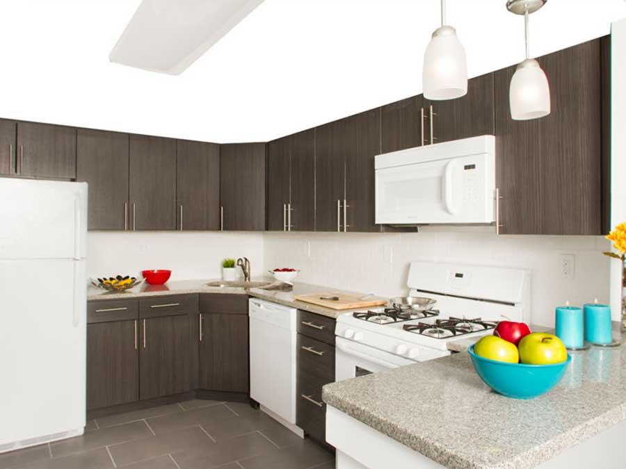 Knightsbridge kitchens with white appliances