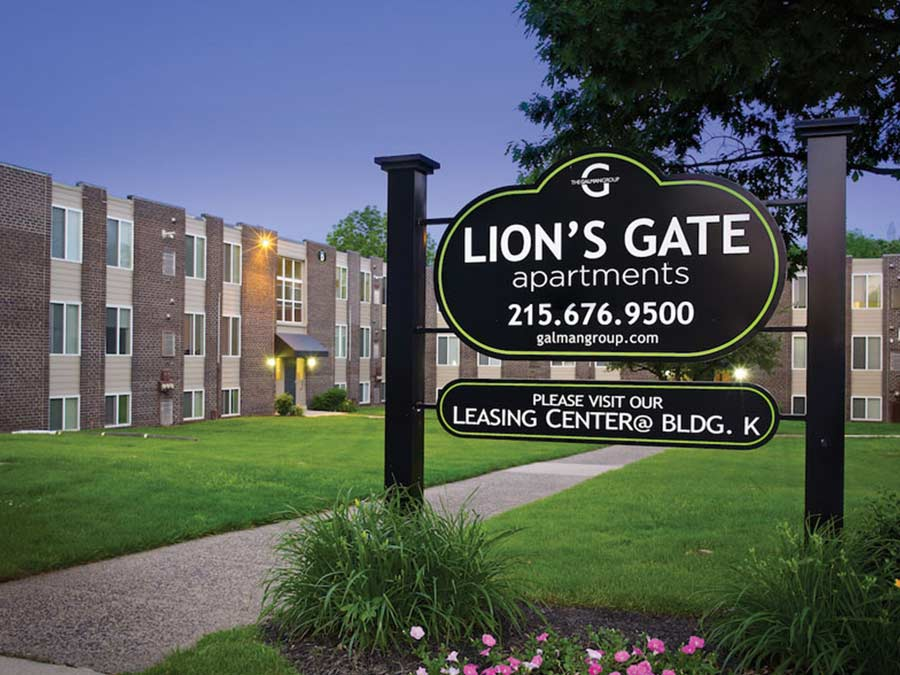 Lion's Gate exterior sign