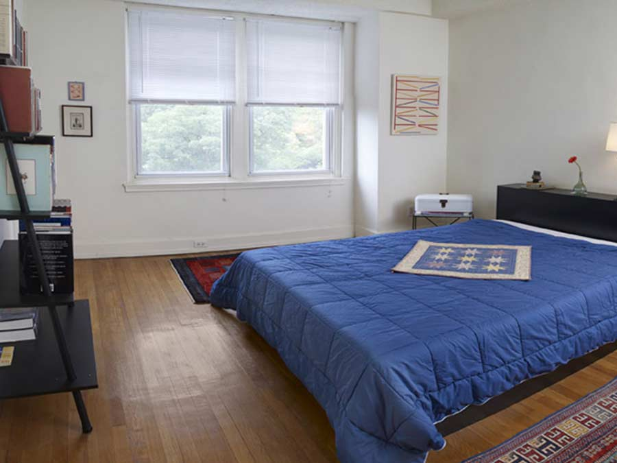The McCallum apartment bedroom