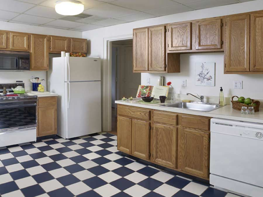 The McCallum apartment kitchen