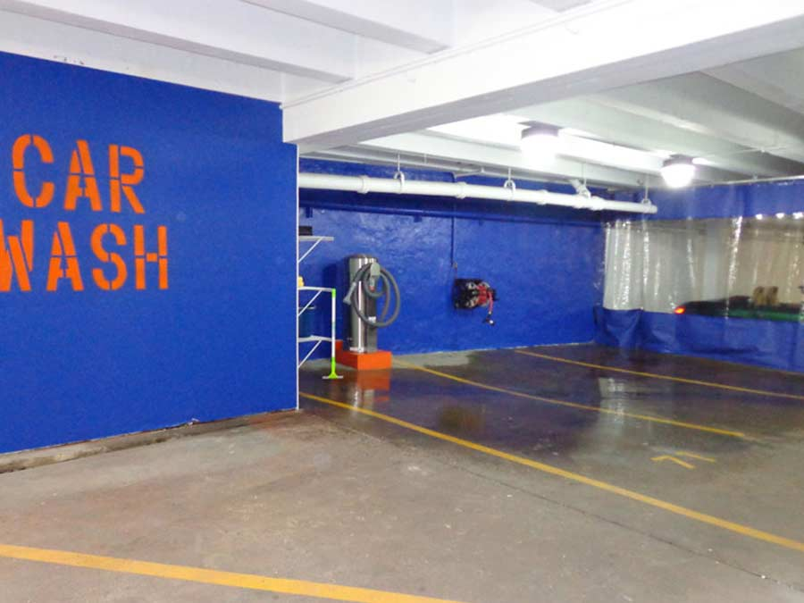 Montgomery Court car wash area