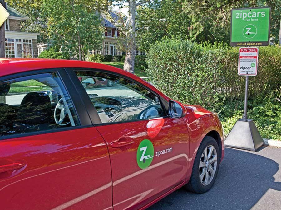 Zip car parking spot located near 264 Flats apartments