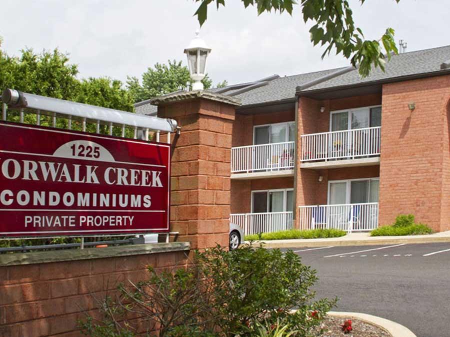 Norwalk Creek Condominiums exterior sign