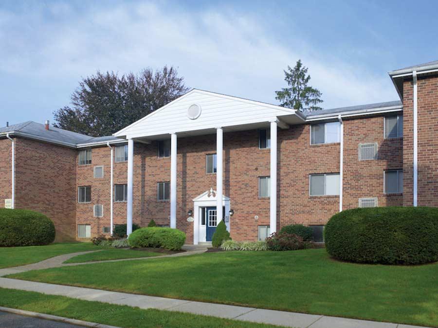 Pine Manor exterior building