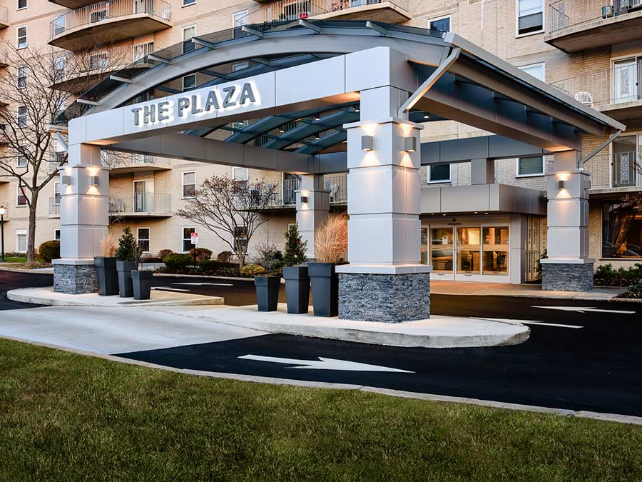exterior of Plaza Apartments in Jenkintown PA