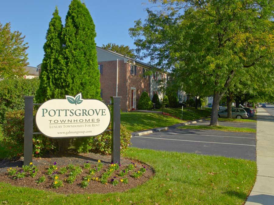 Pottsgrove Townhomes exterior property sign