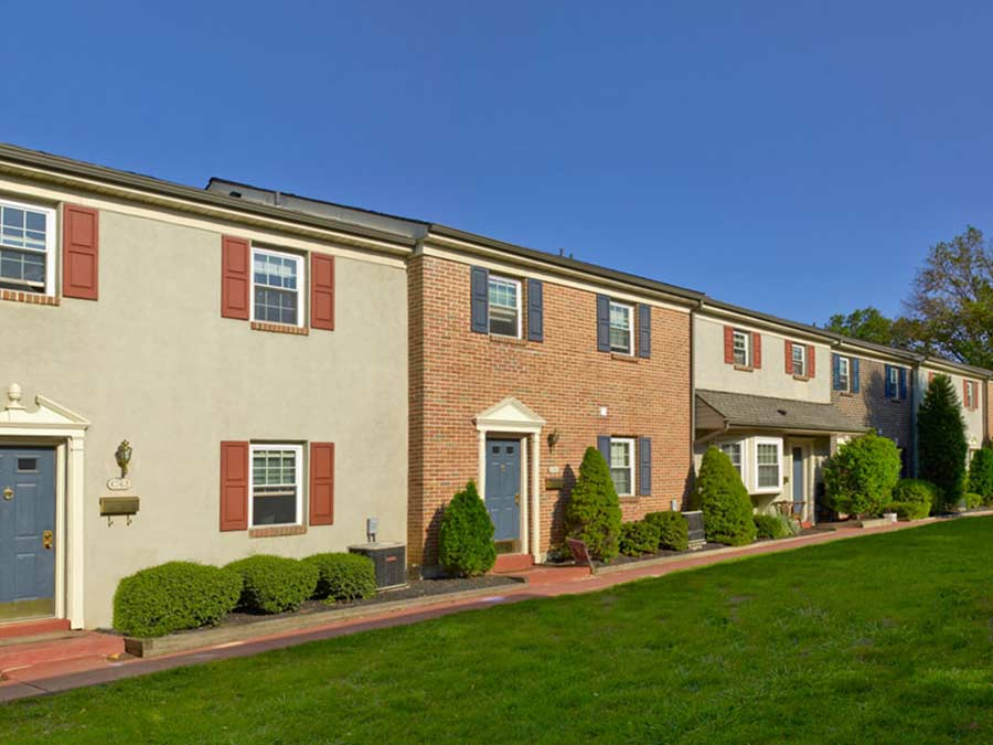 Pottsgrove Townhomes exterior property entrances