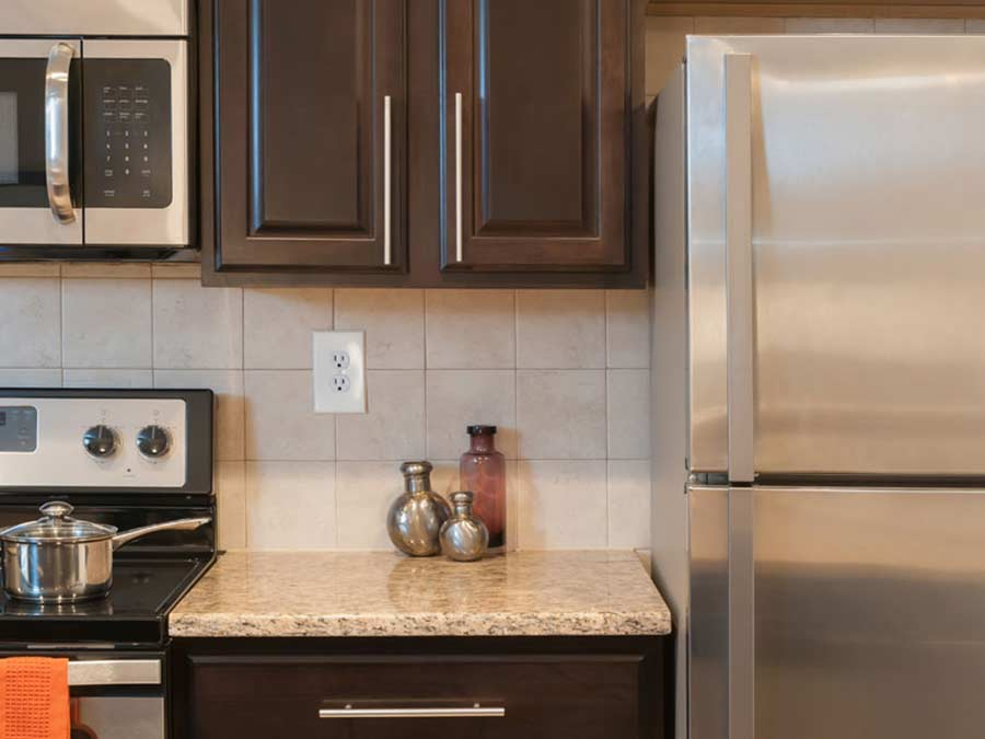 Regency Towers Kitchen Stainless Steel Appliances
