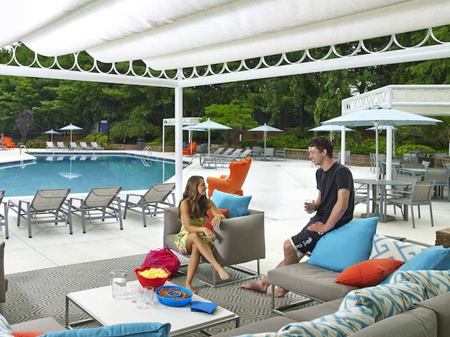 Regency Towers Pool Cabanas