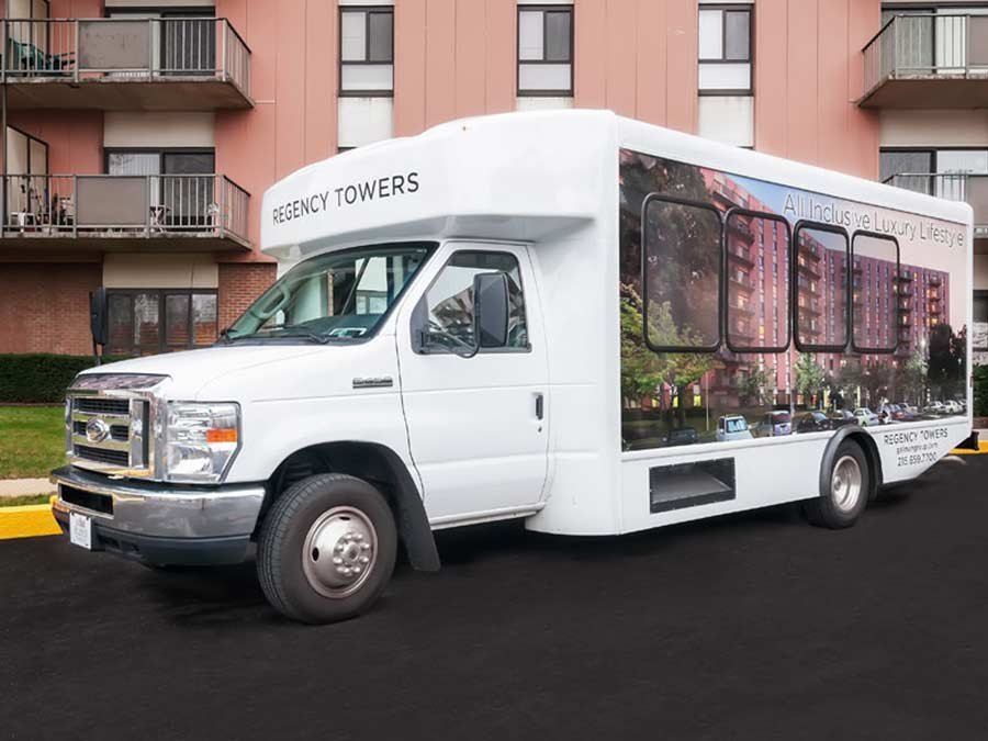 Regency Towers offers a courtesy shuttle