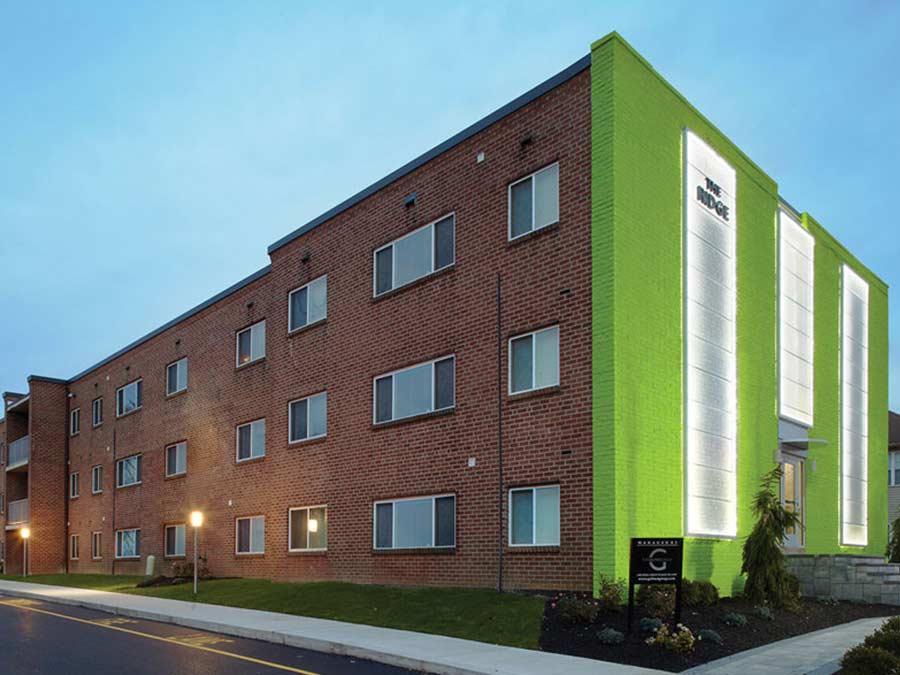 The Ridge Apartments building exterior