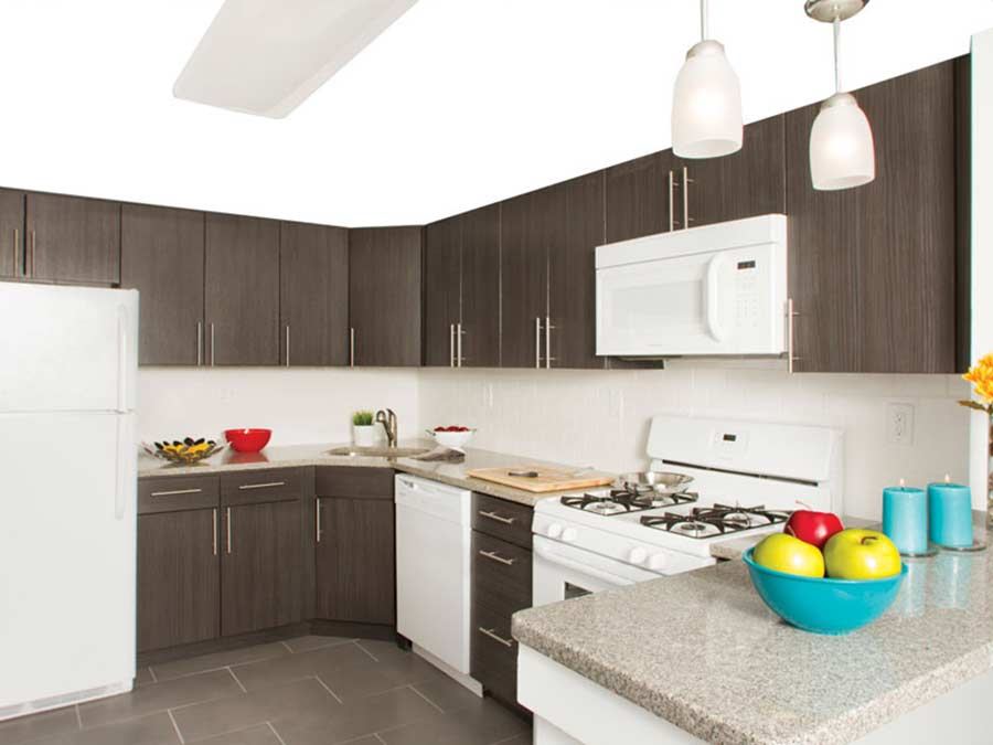 Ridge Court kitchen with white appliances