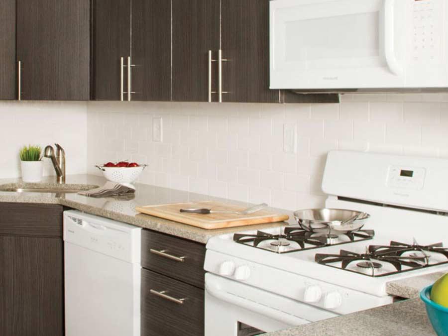Ridge Court kitchen with new appliances