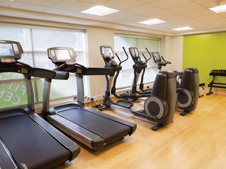 Ridgeview Apartments fitness center with treadmills and ellipticals