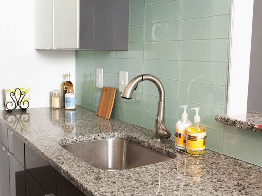 Ridgeview Apartments kitchen with stainless steel appliances