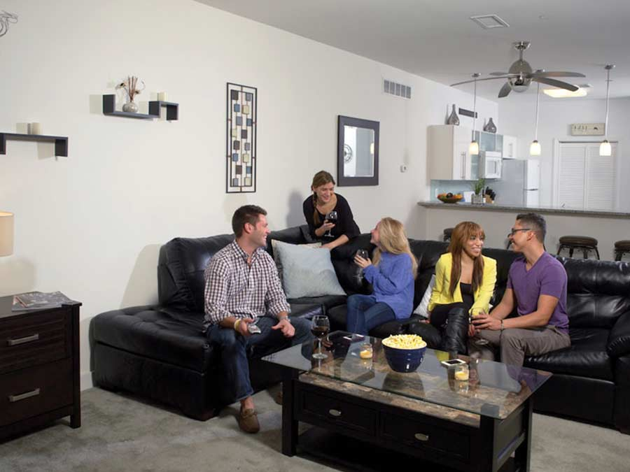 Ridgeview Apartments entertaining in the living room
