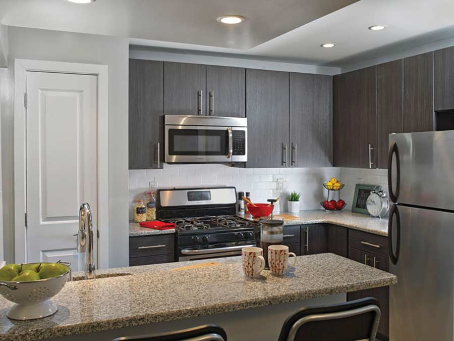 Rock Hill Apartments kitchens with stainless steel appliances