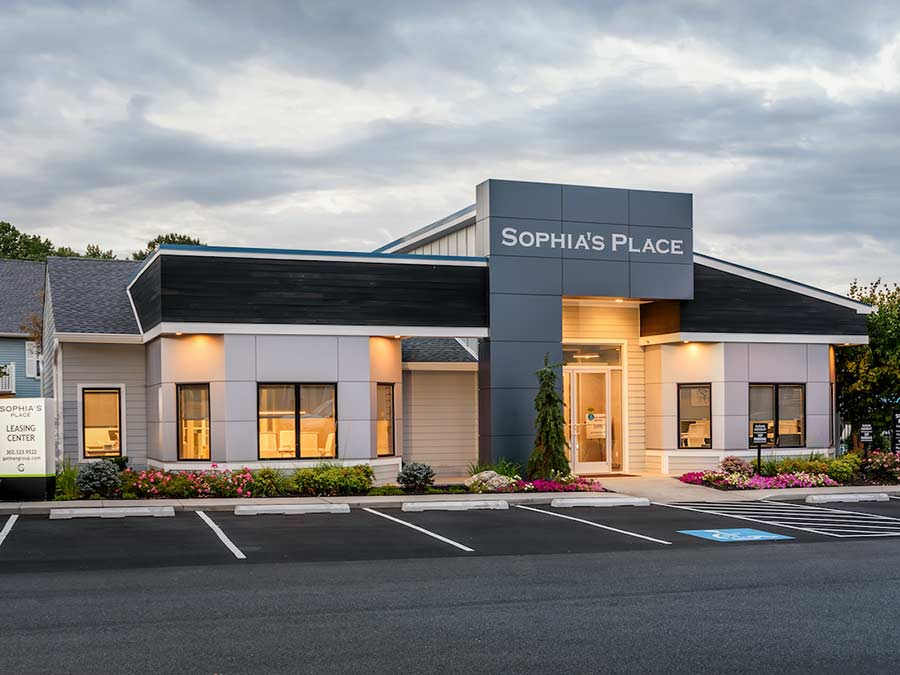 Sophias Place East apartment leasing office in New Castle DE