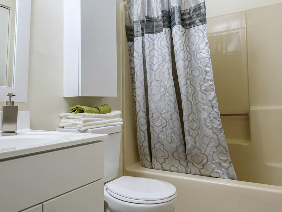 white bathroom in New Castle DE apartment