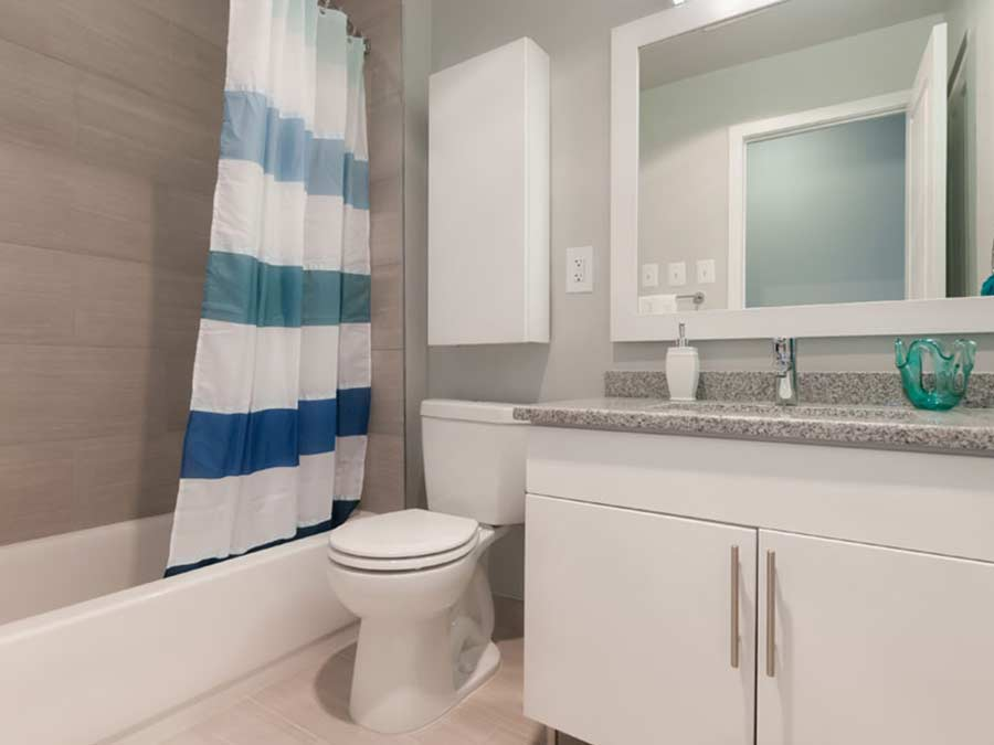 King of Prussia apartment updated bathroom at Valley Forge Towers