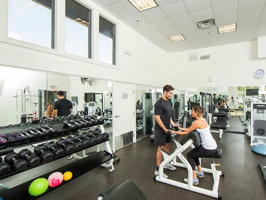 fitness center for King of Prussia apartments at Valley Forge Towers
