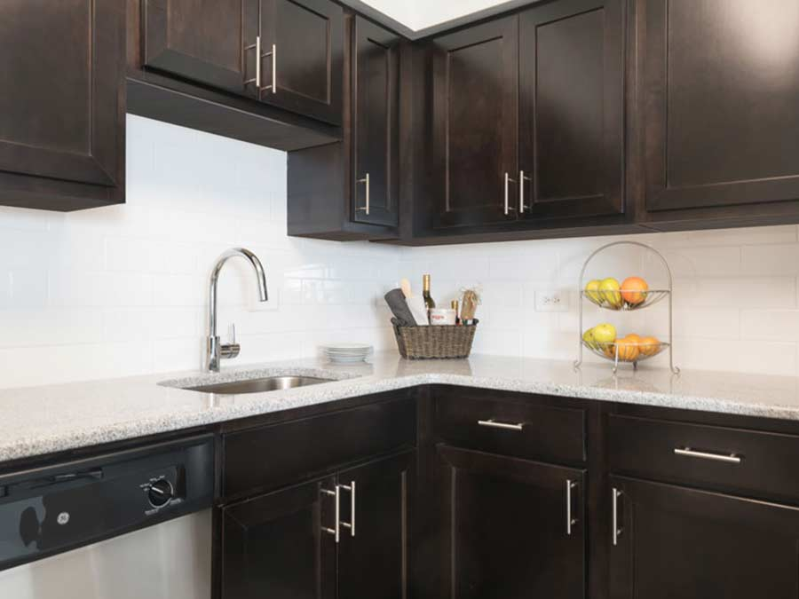 Valley Forge Towers updated kitchens with new cabinetry