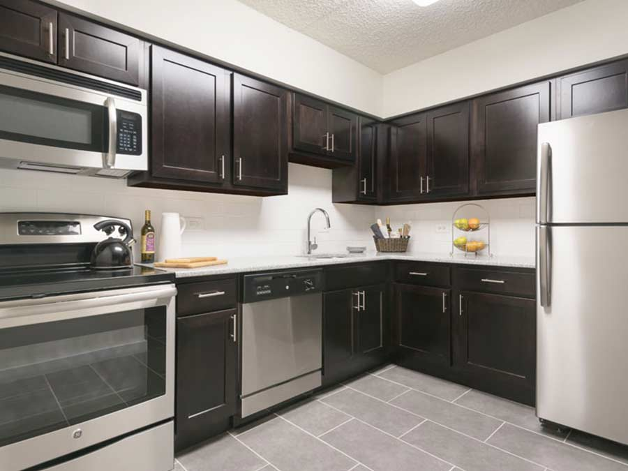 Valley Forge Towers kitchens with stainless steel appliances