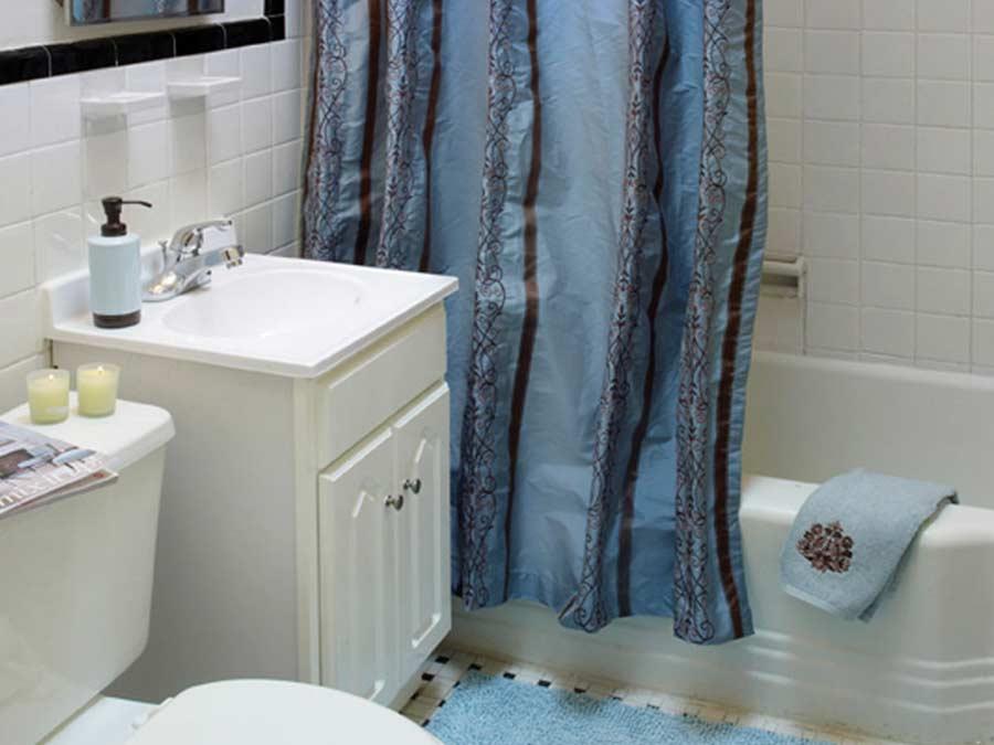 Westfield Apartments bathroom with vanity sink